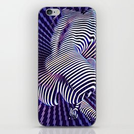 0727s-MM_4649 in Blue Sensual Striped Strong Woman's Torso Back Butt iPhone Skin