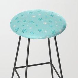 AFE Turquoise Snowflakes Bar Stool