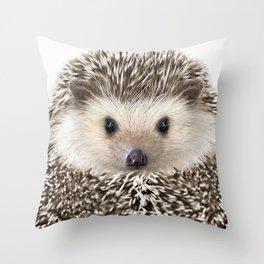 Hedgehog Art Throw Pillow