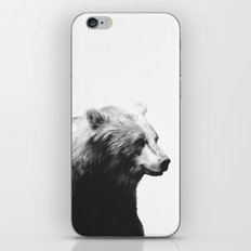 Bear // Calm (Black + White) iPhone & iPod Skin