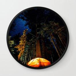 Camping At Night Wall Clock