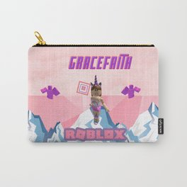 Pink Roblox Girl Carry-All Pouch