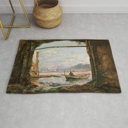 Johan Christian Dahl - View From A Grotto Near Posillipo - Digital Remastered Edition Rug