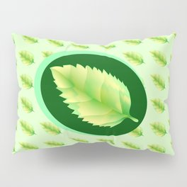 Green leaf of the tree. Leaf linden or apple for background or a logo or a pattern. Pillow Sham
