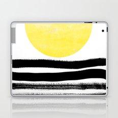 Soleil - sunset sunrise abstract painting art decor dorm college art painting brushstrokes india ink Laptop & iPad Skin