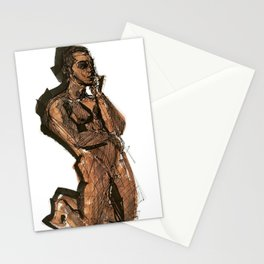 Thoughts That Require Nudity Stationery Cards