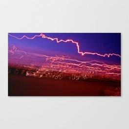 City (Light)s (Graffiti) 9 Canvas Print