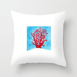Coral Triangle Coral Throw Pillow