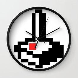 8bit Retro Atari Joystick For Old School Gamers Wall Clock
