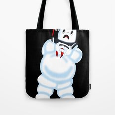 Scared Mr. Stay Puft Tote Bag