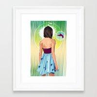 gorillaz Framed Art Prints featuring Humming Bird by Matt Fontaine