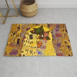 Kiss Klimt Cats Rug