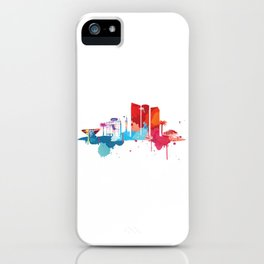 Tel Aviv Cityscape Watercolor iPhone Case