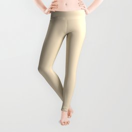 Solid Light Blanched Almond Color Leggings
