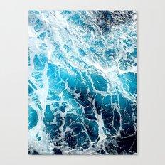 Foaming sea Canvas Print