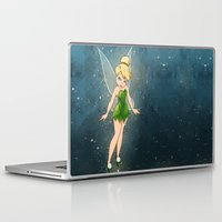 tinker bell Laptop & iPad Skins featuring Tinker Bell by Anais.Lalovi