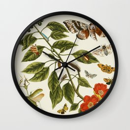 Botanical Insects Wall Clock