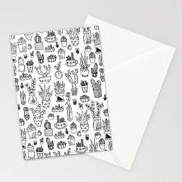 Cute Succulents Pattern Stationery Cards