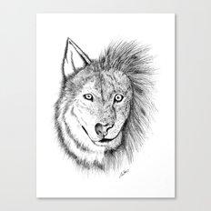 Lion Wolf Canvas Print