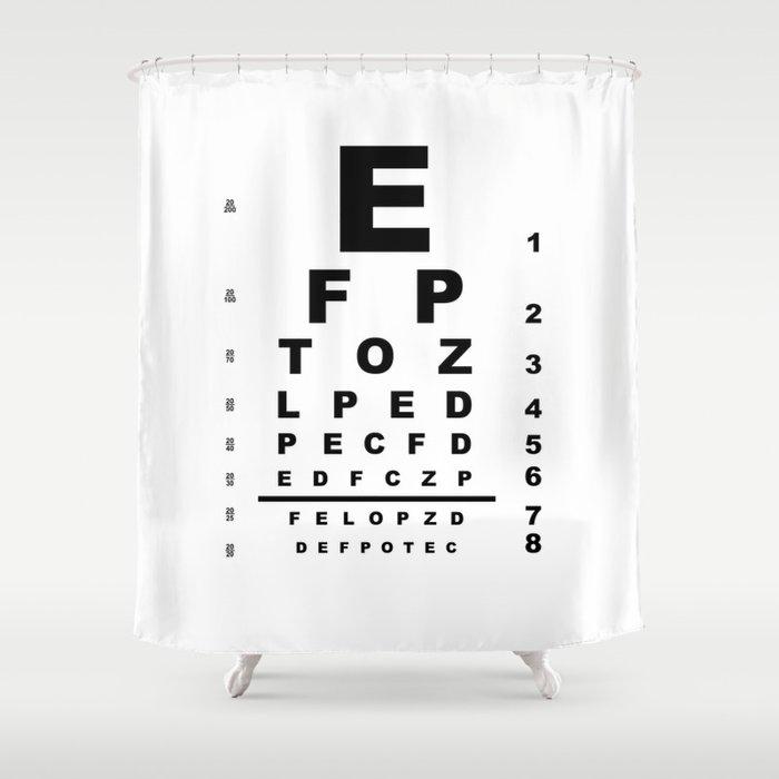 Eye Test Chart Shower Curtain By Homestead Society6