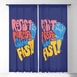 Resist, Persist & Show Your Fist Blackout Curtain