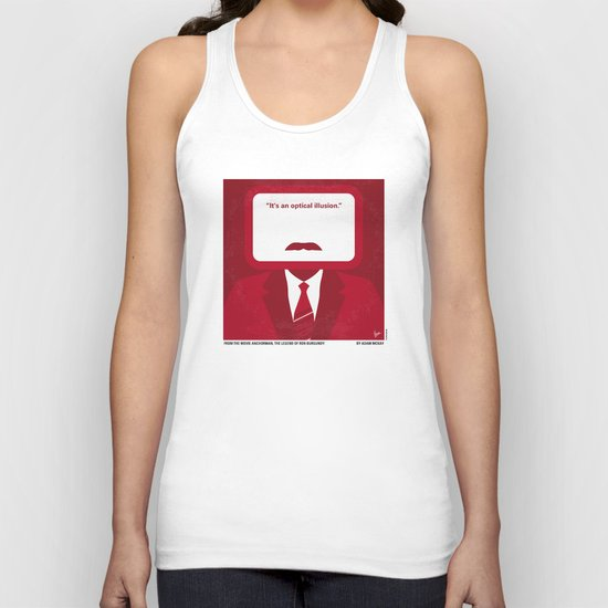 No278 My Anchorman Ron Burgundy minimal movie poster Unisex Tank Top