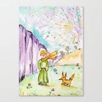 le petit prince Canvas Prints featuring Le petit prince by Colorful Simone