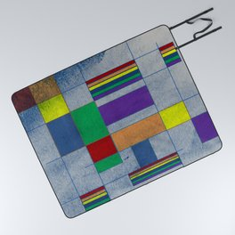 Mid-Century Modern Art - Rainbow Pride 1.0 Picnic Blanket