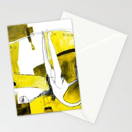 Track and field in yellow Stationery Cards