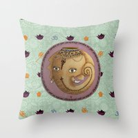 ganesh Throw Pillows featuring Ganesh by S*TRU