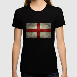 Flag of England (St. George's Cross) Vintage retro style T-shirt