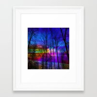 the moon Framed Art Prints featuring Moon by haroulita