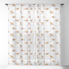 Fox Tracks Sheer Curtain