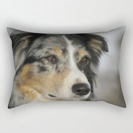Australian Shepherd Dog Pet Animal Rectangular Pillow