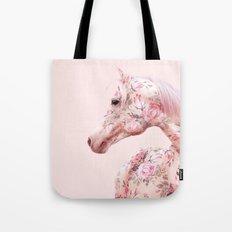 FLORAL HORSE Tote Bag