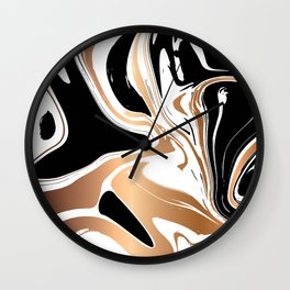 Black and Gold Marble 027 Wall Clock