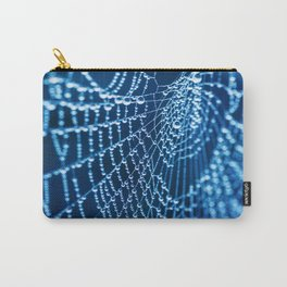 silver spider web Carry-All Pouch