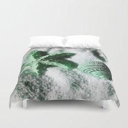 Ocean Life in Green Duvet Cover