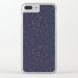 Dark Party Streamers Vector Pattern Clear iPhone Case