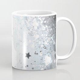 Silver Background with Stars Coffee Mug