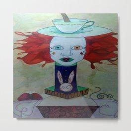 Wonderland(Tea time) Metal Print