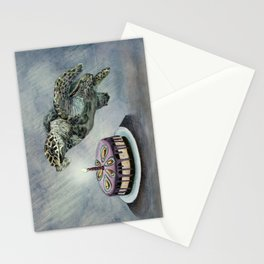 Turtle Birthday Stationery Cards