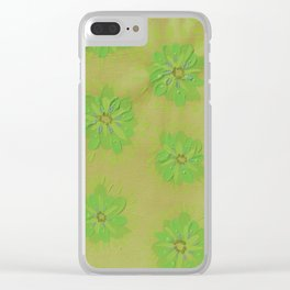 Olive Petal Rose Clear iPhone Case