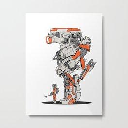 Culprit Tech Robot #1 Metal Print