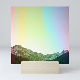 Rainbow Ridge Snow Capped Mountain Range \\ Colorado Landscape Photography \\ B&W Ski Season Art Mini Art Print