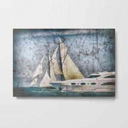Schooner Sailing Ship Yacht Metal Print