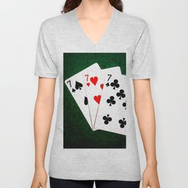 Blackjack Twenty One Unisex V-Neck