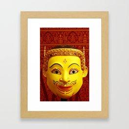 Thai Khon Mask Framed Art Print
