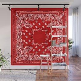 Bandana in Red & White Wall Mural