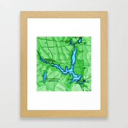Scituate, Rhode Island Map - Scituate, Rhode Island Framed Art Print
